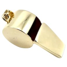 14 K Gold Vintage Whistle Pendant