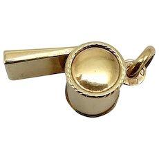 14 K Gold Vintage Italian Whistle Charm