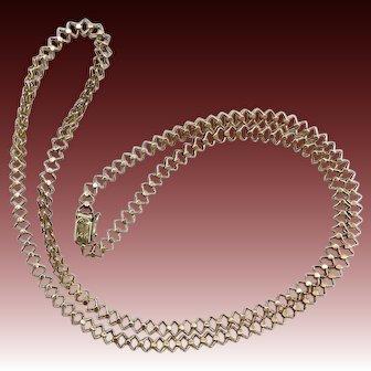 Vintage 14KT Gold Quadrangle Link Chain