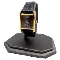 Vintage Must de Cartier Argent Tank Watch