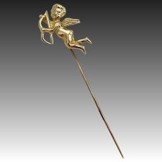 14KT Gold Cupid Stick Pin