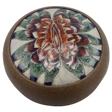 Vintage Judy Chicago Sappho Flower Ceramic Vessel