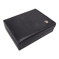 Vintage Rolex Black Leather Geneve Cellini Box
