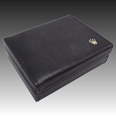 Vintage Rolex Black Leather Geneve Cellini Box
