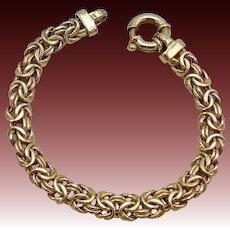 Byzantine Style Gold Plated Sterling Silver Bracelet