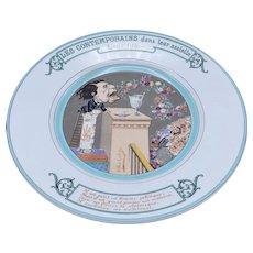 Antique Sarreguemines Ceramic Plate of Louis Blanc, Politician