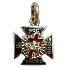 Vintage Royal Arch Mason 14KT Gold and Enamel Charm