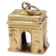 Vintage Parisian 18K Gold Art de Triomphe Charm