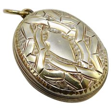 Victorian Sterling Silver Gilded Bight-cut Locket