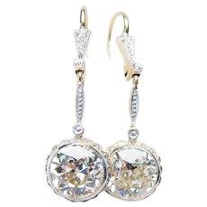 Edwardian Diamond Dangle Earrings