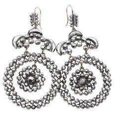 Victorian Round Cut-Steel Earrings