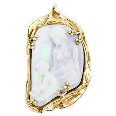1960 Tiffany & Co. Opal Cameo Pendant