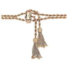 Circa 1950 Rope & Tassel Diamond Peikin Watch