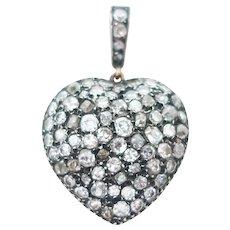 Victorian Diamond Heart Pendant