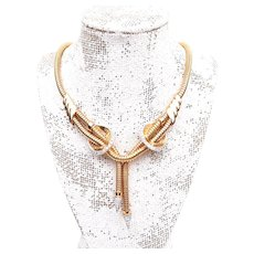 18KT Retro Necklace with Diamond Accents
