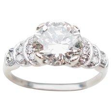 Retro-Era 1.78-Carat Diamond Engagement Ring