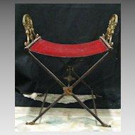 Bronze Art Deco - Egyptian Director's Chair  c 1920's
