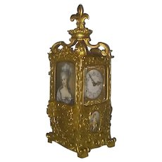 Rare French Bronze Sedan Chair Carriage Clock - Circa 1890