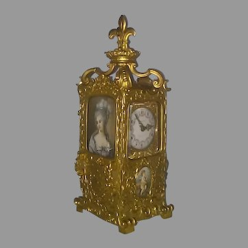 Rare French Bronze Sedan Chair Carriage Clock - Circa 1890