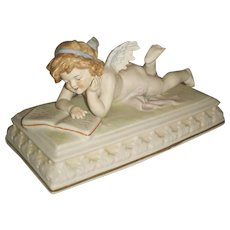 Fabulous Scheibe Alsbach porcelain Cherub Angel with Book – Germany