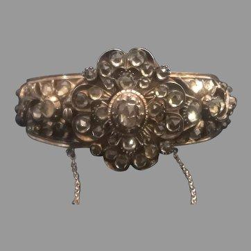 Striking Victorian Rose Cut Diamond and Jargoons Bracelet – Bangle