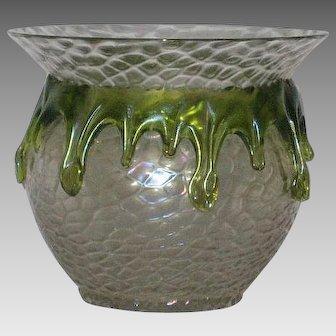 Stunning Loetz / Kralik Art Glass Vase -Teardrop Design c 1900 - Glass vase