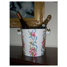 1905 Hand Painted Minton Chamber Pot with Insert