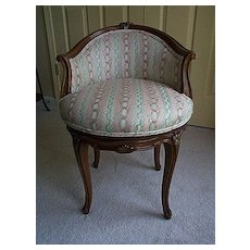 French style  Vanity Chair with Beacon Hill Fabric