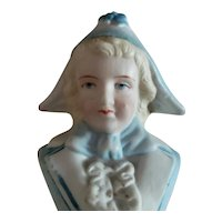 """4 3/4"""" Bust of Antique Boy for Doll Display"""