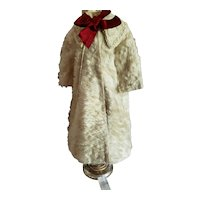Long Mohair Coat for a Child or Large Doll