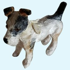 """3 3/8"""" Tall Toy Dog for Doll Display"""
