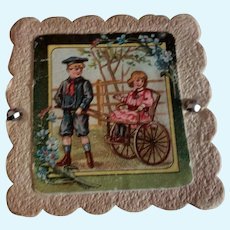 """3"""" Little Box with Girl and Boy on Lid"""