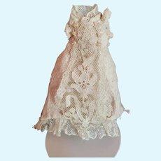 "4"" Lace Mignonette Dress with Long Train"