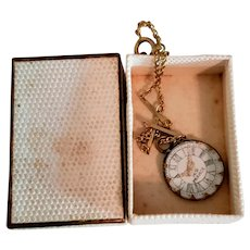 Tiny Little Watch on Chain for Small Fashion or Bebe