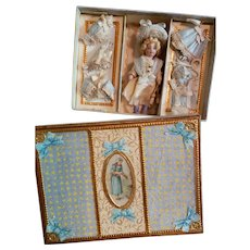 Artist Made Box and Clothes for an Antique Lilliputian Doll