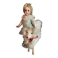 "6"" Furry Spitz Dog For Doll Display"