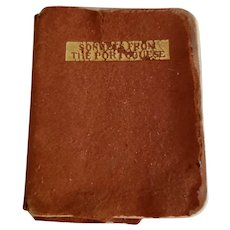 """On Hold  for K  Tiny Leather Covered Book """"Sonnets From the Portuguese"""""""