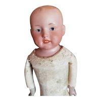"""10 1/2"""" Bisque Shoulder Head Boy Marked 430"""