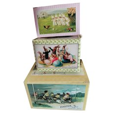 Set of 3 Easter Candy Boxes for Doll Display