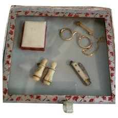 Doll Accessories in a Box with Glass Lid