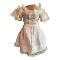 "11"" White Cotton Dress for Rohmer or Early Doll"