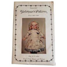 """Vintage Pattern for !2-13"""" Doll"""