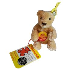 """3"""" Steiff Bear with All Tags and Button"""