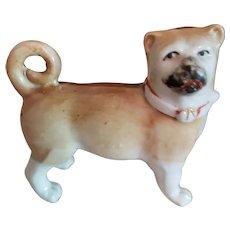 "3"" Porcelain Pug Dog for Doll Companion"