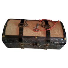 """6 1/2"""" Ornate Small French Fashion Trunk"""