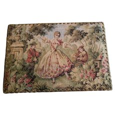 Tapestry Covered Display Box for Doll Display