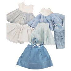 6 Blue Skirts or Partial Dresses to Cut or Remake