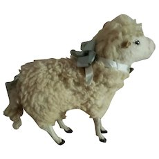 """6 1/2"""" Tall Mohair Sheep for Doll Display"""