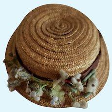 Tiny Straw French Fashion Hat