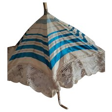 """13"""" Blue and White Parasol"""
